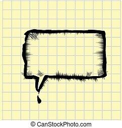 vector sketch speech bubble
