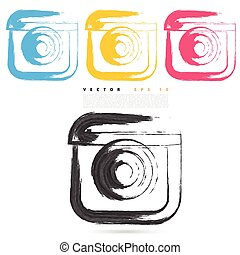 Vector sketch style of instagram icons. Design element