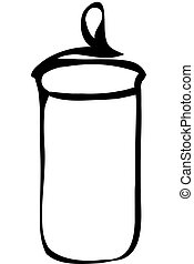 vector sketch tableware glass container with a lid for cereals