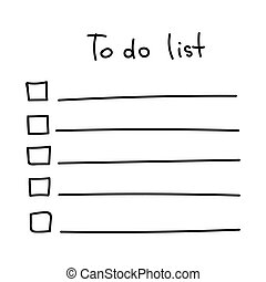 vector sketch to do list black on white background