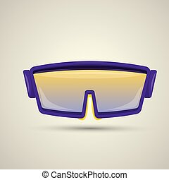 vector Ski goggles icon. snowboard mask