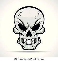 Vector skull on white background