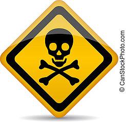 Vector skull sign