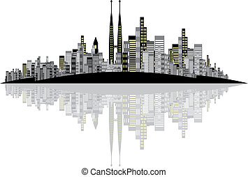Vector Skyline Background