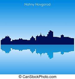 Vector skyline of Nizhnij Novgorod. Russia