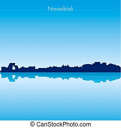 Vector skyline of Novosibirsk . Russia