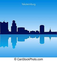 Vector skyline of Yekaterinburg. Russia