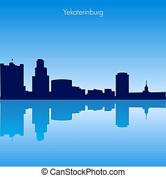 Vector skyline of Yekaterinburg. Russia
