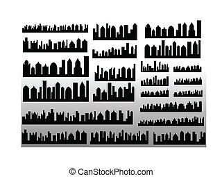 Vector Skylines - Creative Abstract Conceptual Design Art of...