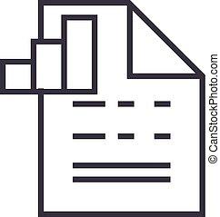 vector, slagen, editable, tabel, illustratie, meldingsbord, achtergrond, pictogram, lijn, document