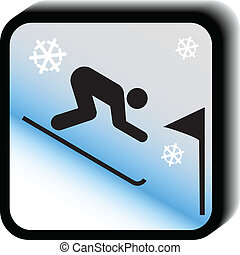 vector-slalom, 冬, アイコン