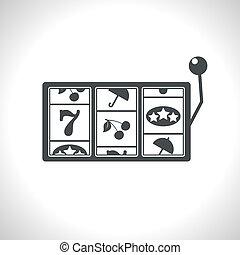 Vector slot icon. Eps10 - Vector gray slot icon. Eps10