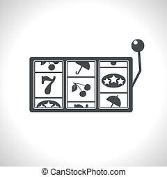 Vector slot icon. Eps10 - Vector gray slot icon. Eps10
