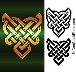 Vector small celtic heart