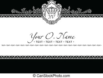 Vector Small Title Frame and Pattern