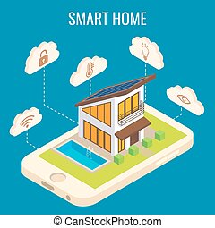 Vector smart home concept isometric illustration