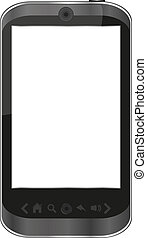 vector smart phone isolated on white - iphone