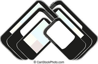 vector smart phone set