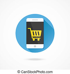 Vector Smartphone Buy Online Icon