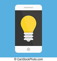 Vector Smartphone Idea Icon