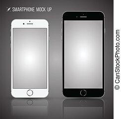 Vector smartphone mock up. - realistic smartphone mock up.