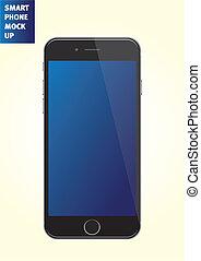 Vector smartphone mock-up