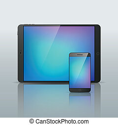 Vector Smartphone Tablet isolated illustration - Vector ...