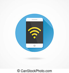 Vector Smartphone Wifi Icon