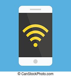 Vector Smartphone Wifi Icon