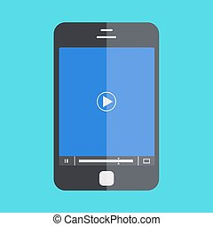 vector smartphone with player