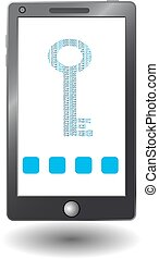 smartphone with virtual security key