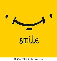 Vector smile card