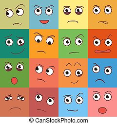 Vector smile day, creative smile day cartoon style smiles day with different emotions smile day