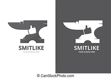 Vector smith and like logo combination. Blacksmith and best...