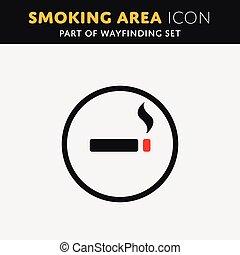 vector smoke icon