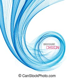 Vector smooth Blue Transparent abstract waves For cover book, brochure, flyer, poster, magazine, website, annual report