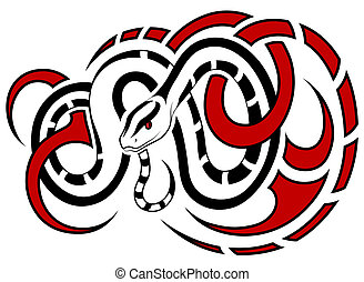 Vector Snake, in the form of a tattoo