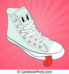 vector sneaker character cartoon  design