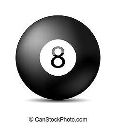 vector, snooker, 8, pool., eps, 10