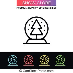 Vector snow globe icon. Thin line icon
