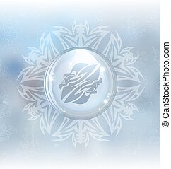 Vector snow globe with zodiac sign Gemini