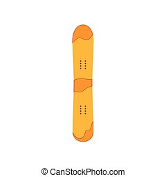 vector snowboard flat icon isolated
