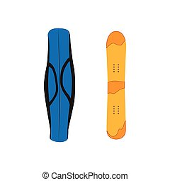 vector snowboard with cover flat icon isolated