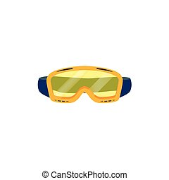 vector snowboarding goggles flat icon isolated