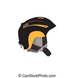 vector snowboarding helmet flat icon isolated
