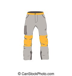 vector snowboarding pants flat icon isolated