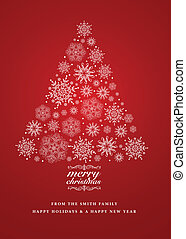 Vector Snowflake Christmas Invite