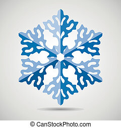 vector snowflake  - vector origami snowflake background