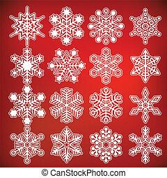 Vector snowflake collection