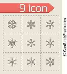 Vector snowflake icon set